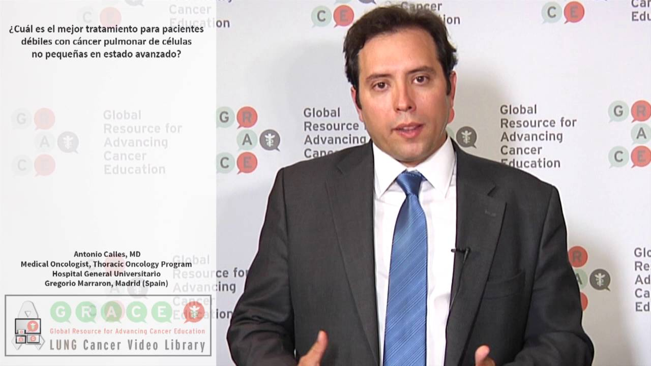 Embedded thumbnail for Lung Cancer Video Library - Spanish Language: Video #7 What is the best treatment for frail patients with advanced NSCLC?