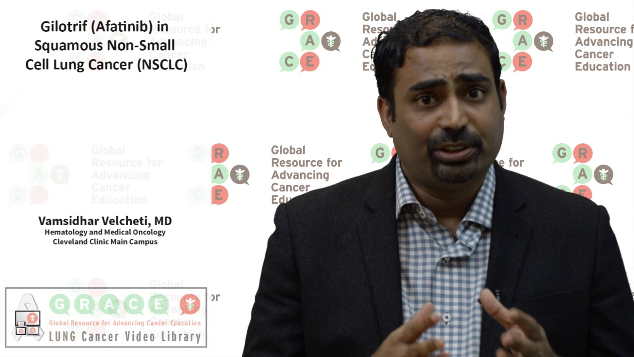 Embedded thumbnail for Lung Cancer Video Library - Gilotrif/ Afatinib in Squamous NSCLC