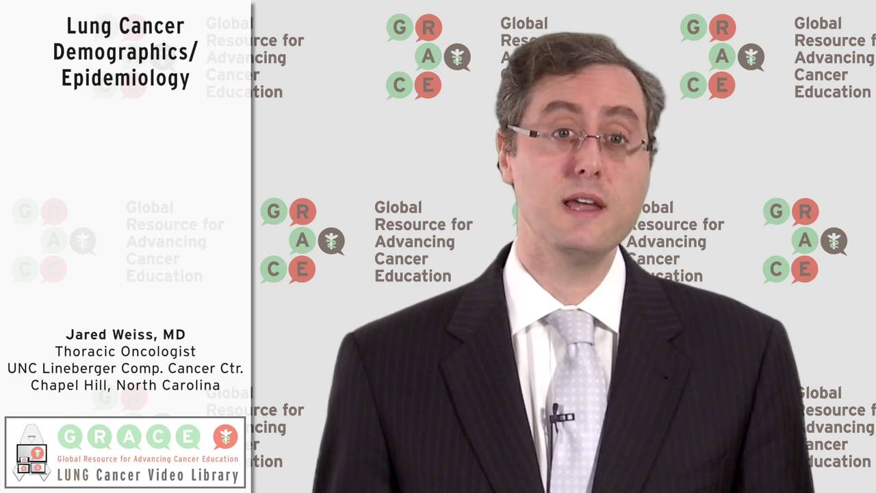 Embedded thumbnail for Lung Cancer Video Library - Lung Cancer Demographics and Epidemiology