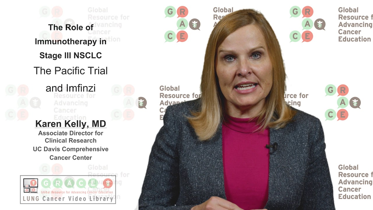 Embedded thumbnail for Lung Cancer Video Library - Immunotherapy in Stage lll NSCLC - The Pacific Trial and Imfinzi