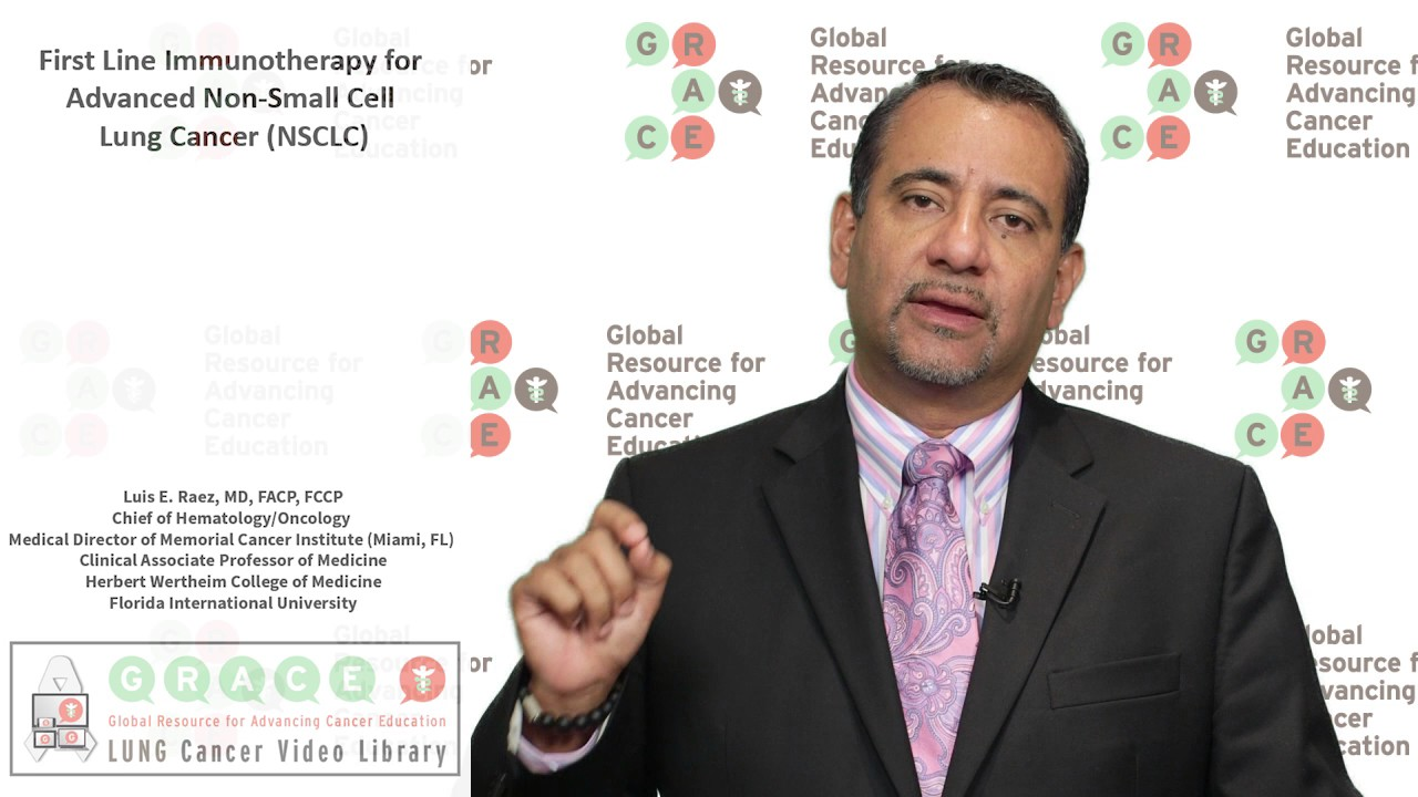Embedded thumbnail for Lung Cancer Video Library - First Line Immunotherapy for Advanced Non Small Cell Lung Cancer NSCLC