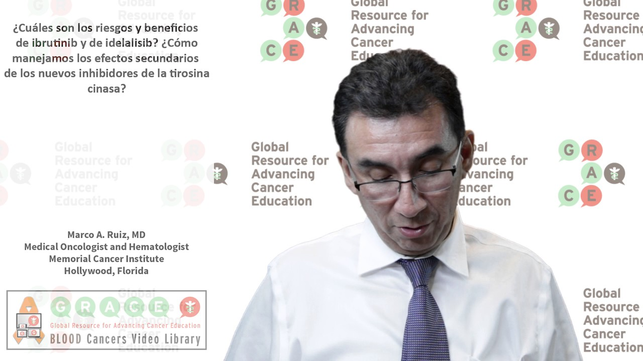 Embedded thumbnail for Spanish Blood Cancer Library - What are the risks and benefits of Ibrutinib and Idelalisib?  How do you manage the side effects of the new kinase inhibitors?