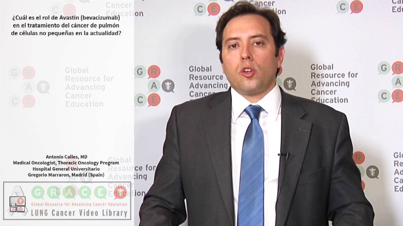 Embedded thumbnail for Lung Cancer Video Library - Spanish Language: Video #4 What is the role of Avastin (bevacizumab) in treating advanced NSCLC today?