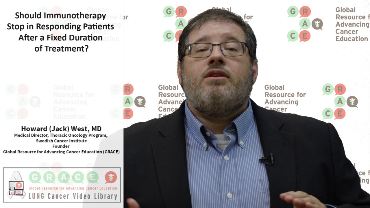Embedded thumbnail for Lung Cancer Video Library - 2017 Should Immunotherapy be Stopped in  a Fixed Duration of Treatment?Responding Patients After