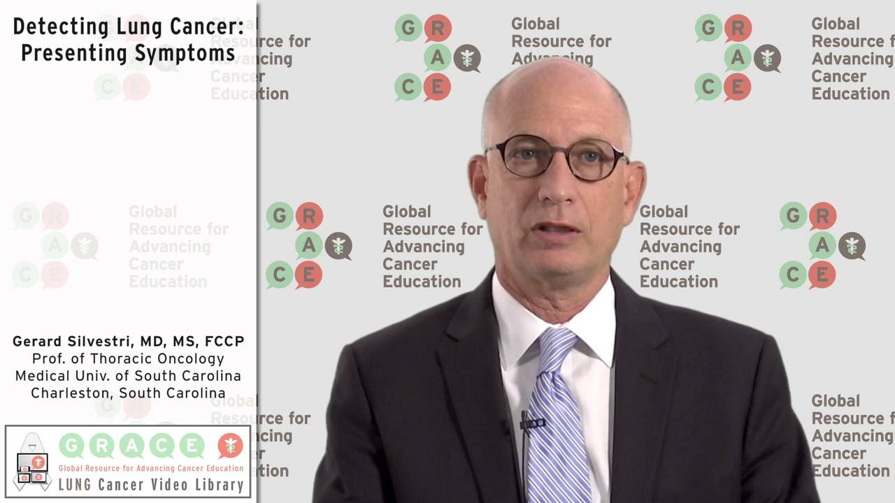 Embedded thumbnail for Lung Cancer Video Library - Detecting Lung Cancer: Presenting Symptoms