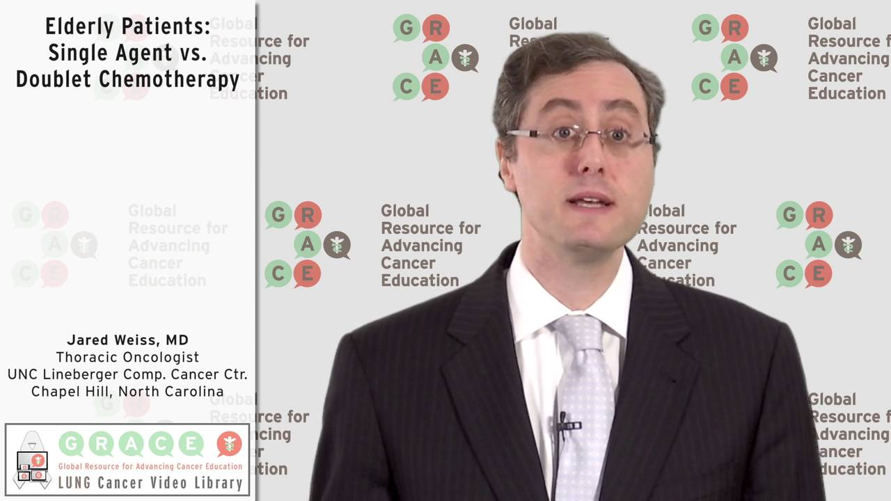 Embedded thumbnail for Elderly Patients: Single Agent vs. Doublet Chemotherapy