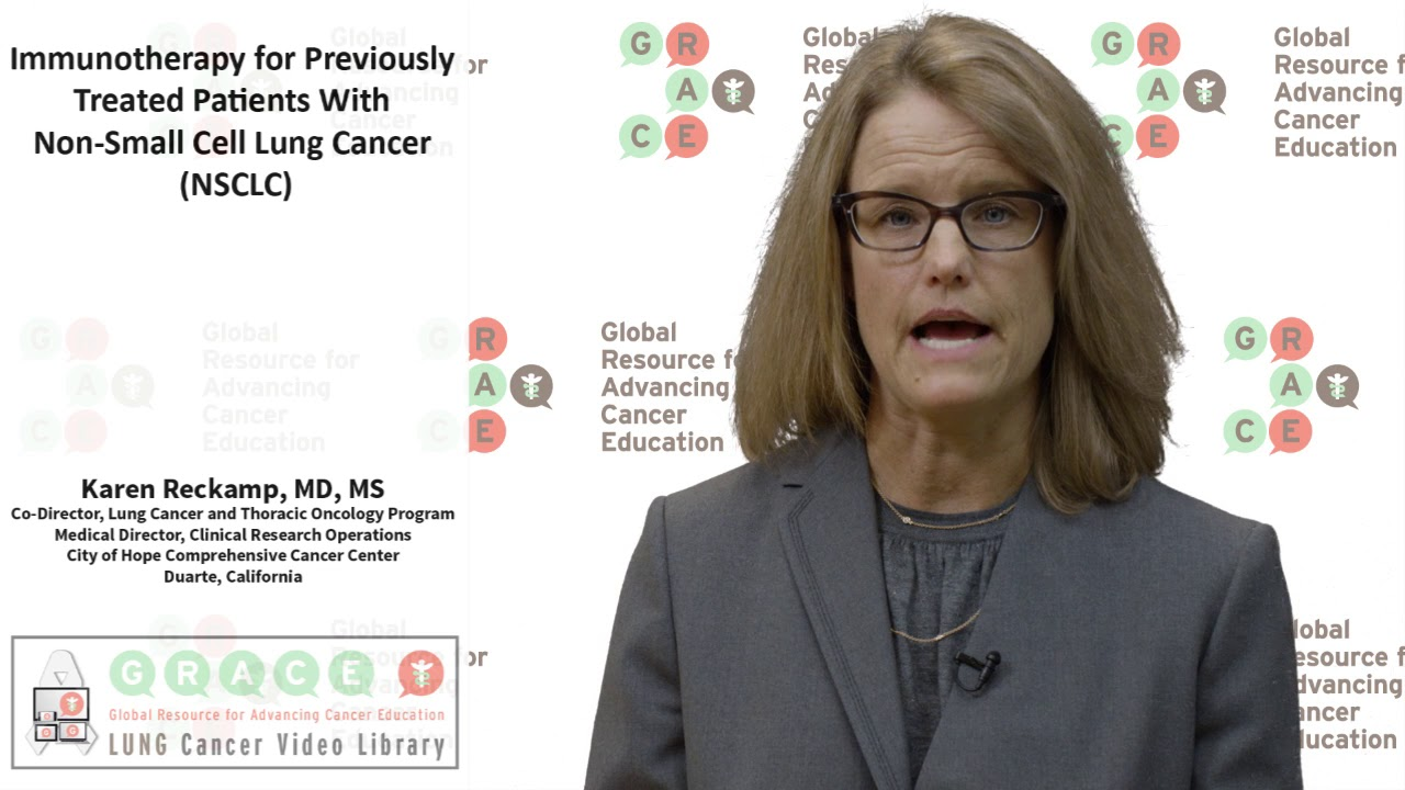 Embedded thumbnail for Lung Cancer Video Library -  Immunotherapy for Previously Treated Patients with NSCLC