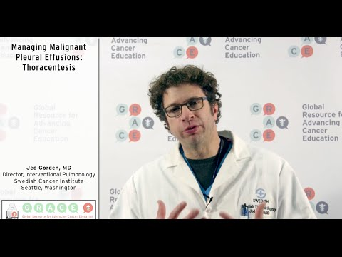 Embedded thumbnail for Lung Cancer Video Library - Managing Malignant Pleural Effusions: Thoracentesis