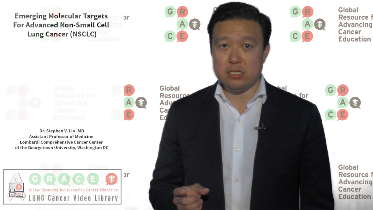 Embedded thumbnail for Lung Cancer Video Library - Emerging Molecular Targets For Advanced Non-Small Cell Lung Cancer (NSCLC)