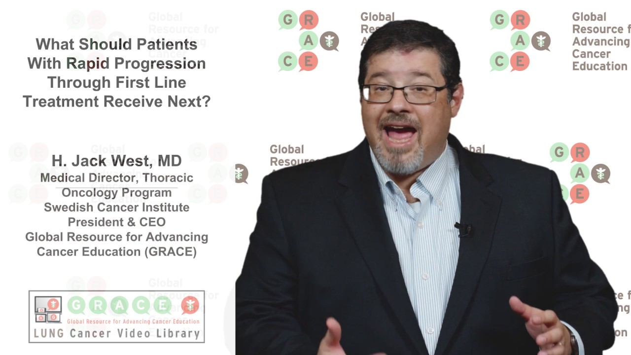 Embedded thumbnail for Lung Cancer Video Library - What Should Patients With Rapid Progression Through 1st Line Treatment Receive Next?