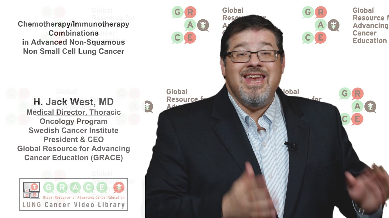Embedded thumbnail for Lung Cancer Video Library - Chemotherapy and Immunotherapy Combinations in Advanced Non-Squamous NSCLC