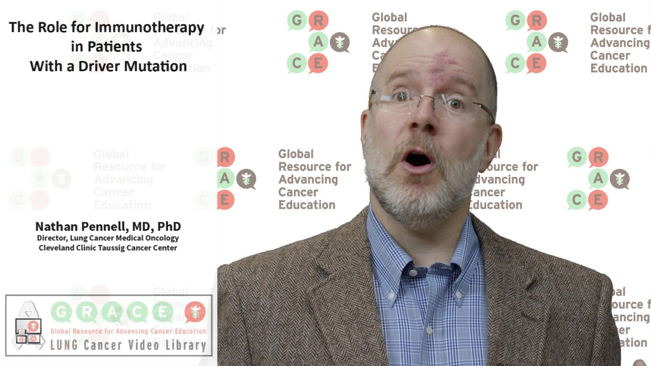 Embedded thumbnail for Lung Cancer Video Library 2017 - The Role for Immunotherapy in Patients with a Driver Mutation