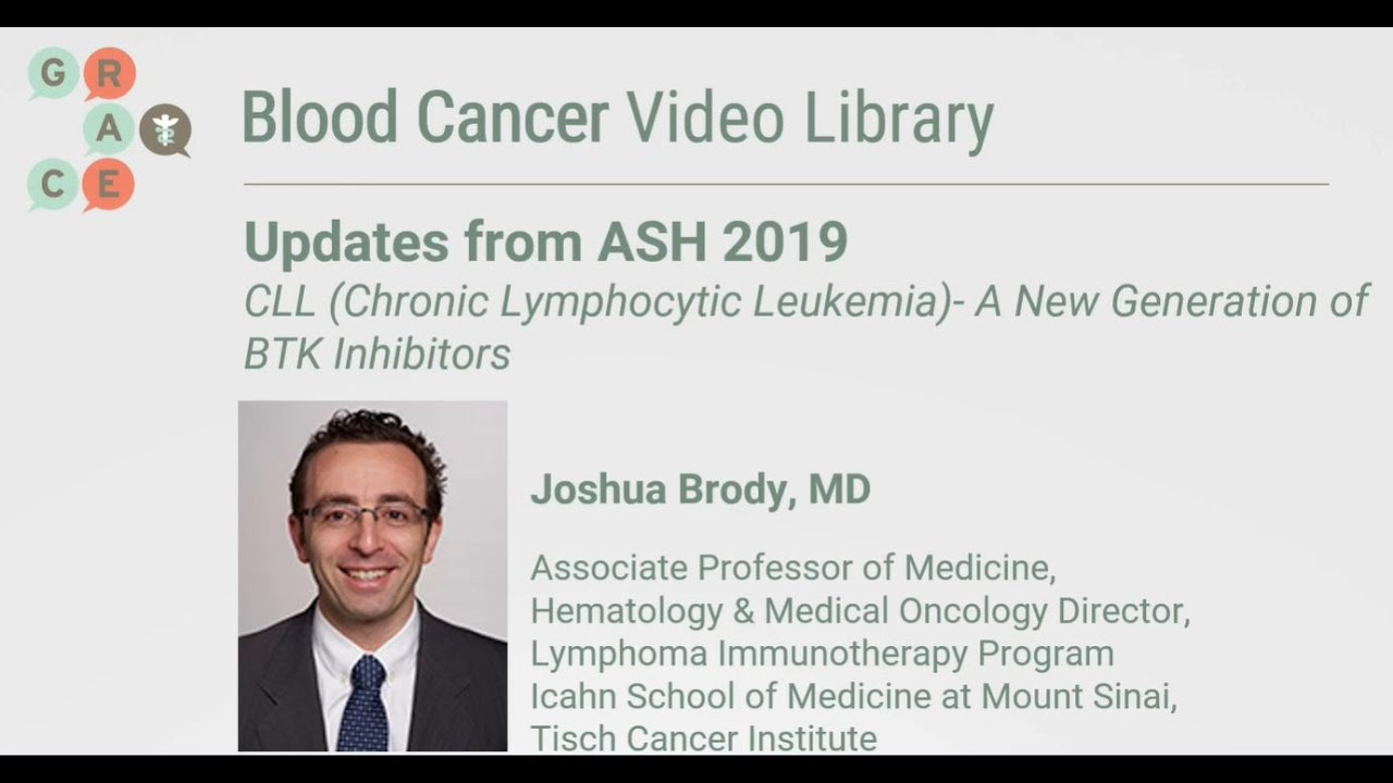 Embedded thumbnail for Blood Cancer Video Library - Brody - Chronic Lymphocytic Leukemia (CLL) - New BTK Inhibitors