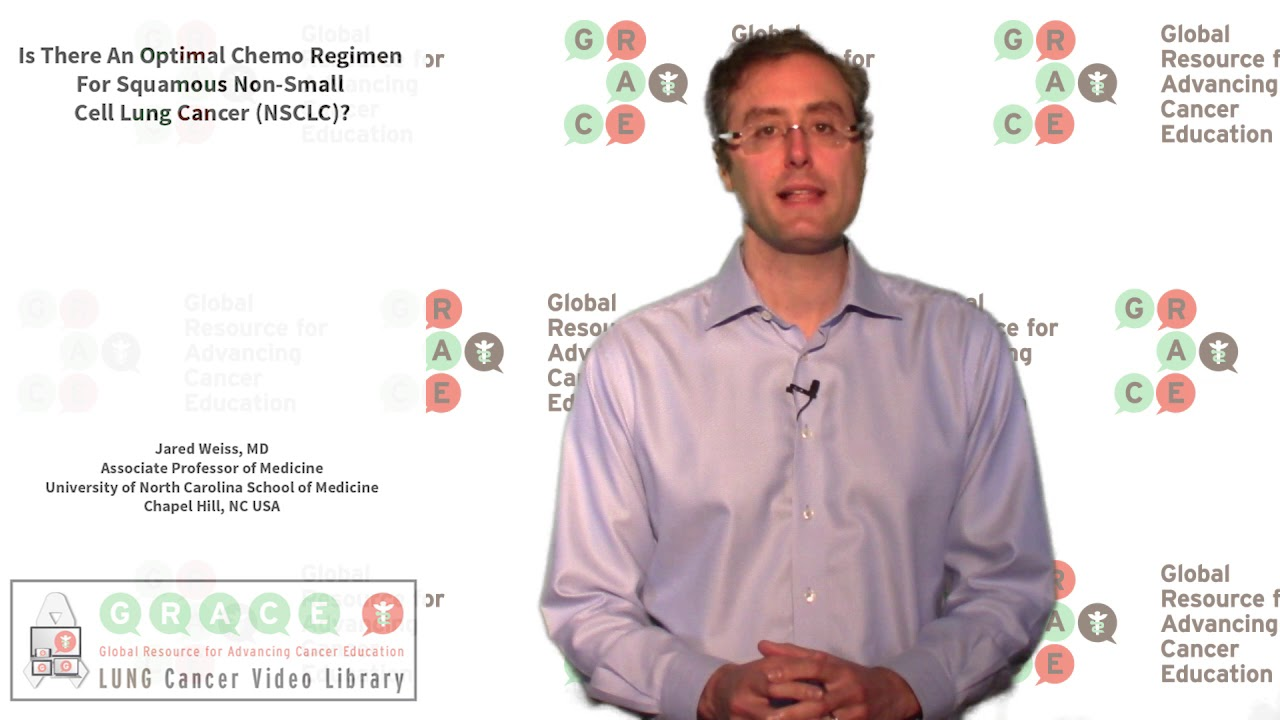 Embedded thumbnail for Lung Cancer Video Library - Is There An Optimal Chemo Regimen For Squamous Non-Small Cell Lung Cancer (NSCLC)