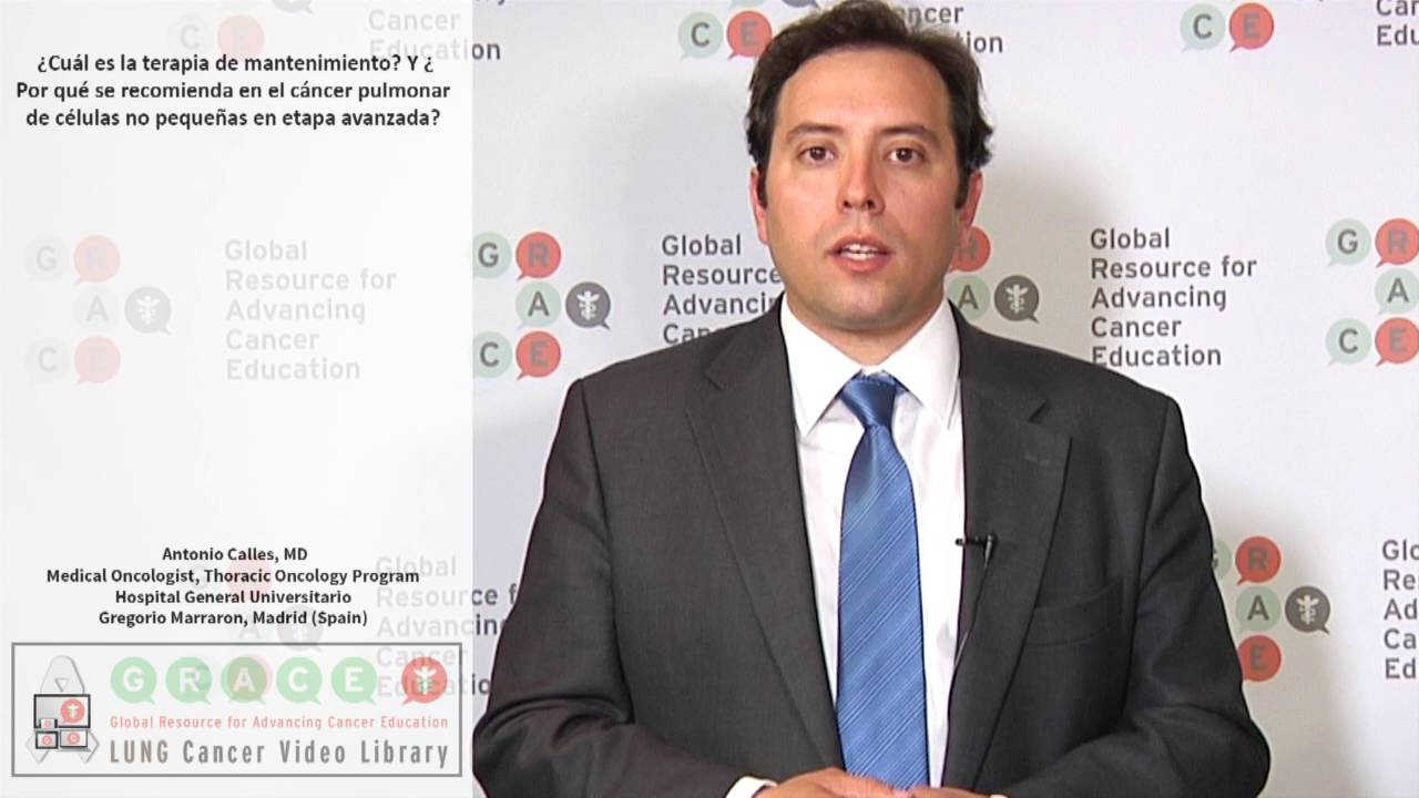 Embedded thumbnail for Lung Cancer Video Library - Spanish Language: Video #6 What is maintenance therapy and why would it be recommended in advanced NSCLC?