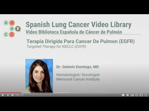 Embedded thumbnail for Lung Cancer Video Library Spanish - Domingo - Targeted Therapy for NSCLC (EGFR)