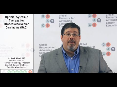 Embedded thumbnail for Lung Cancer Video Library - Optimal Systemic Therapy for Bronchioloalveolar Carcinoma (BAC)