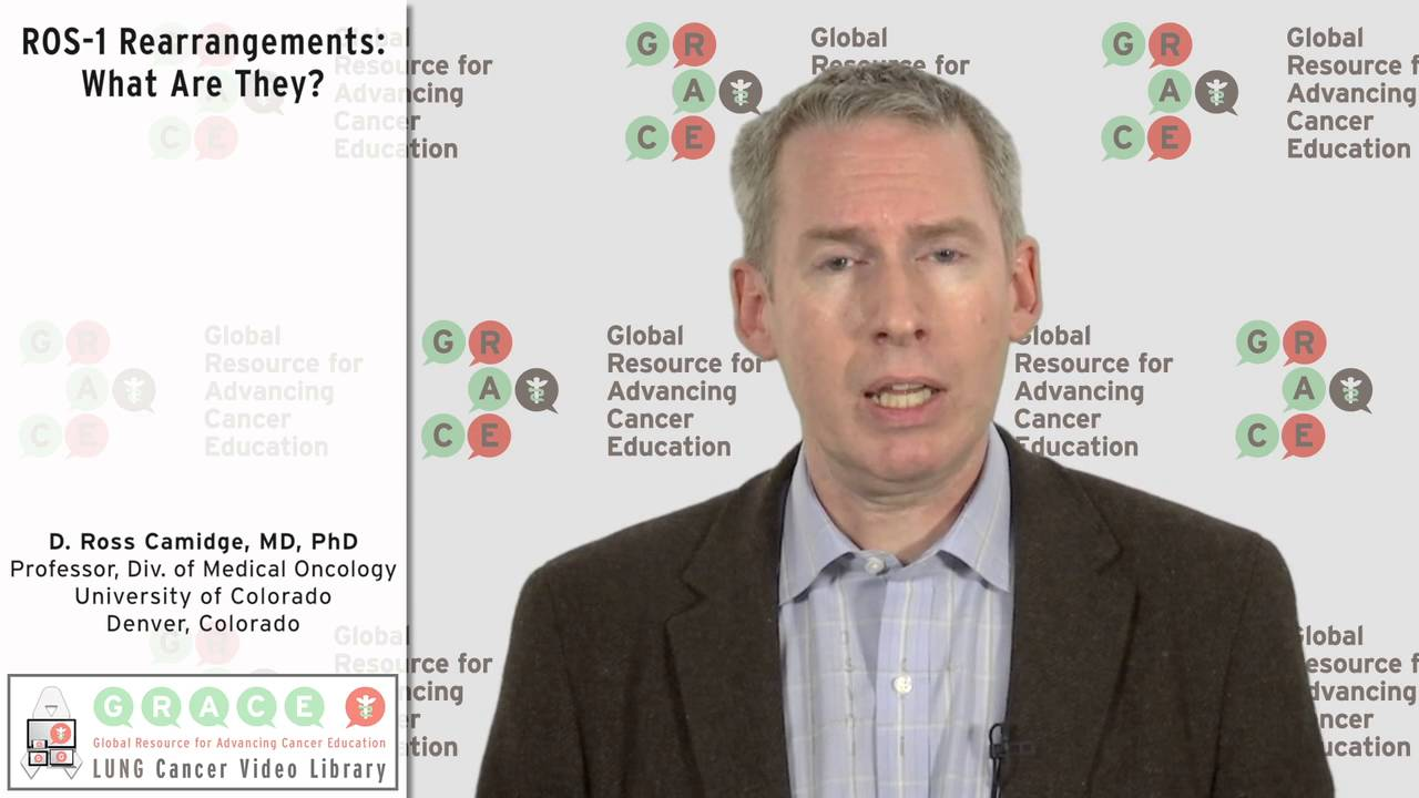 Embedded thumbnail for Lung Cancer Video Library - ROS-1 Rearrangements: What Are They?