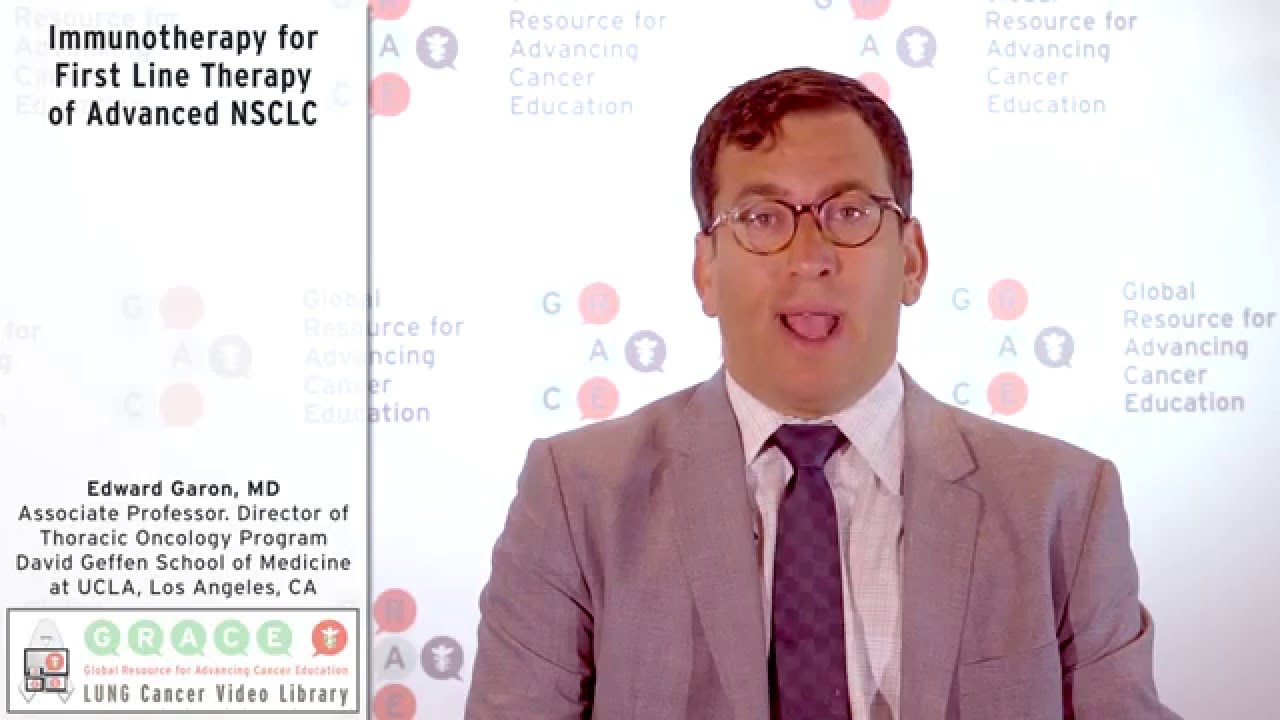 Embedded thumbnail for Immunotherapy for First Line Therapy of Advanced NSCLC