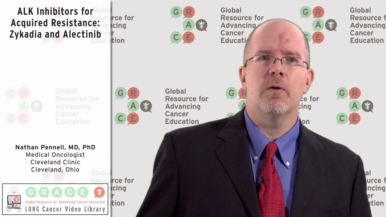 Embedded thumbnail for ALK Inhibitors for Acquired Resistance: Zykadia and Alectinib