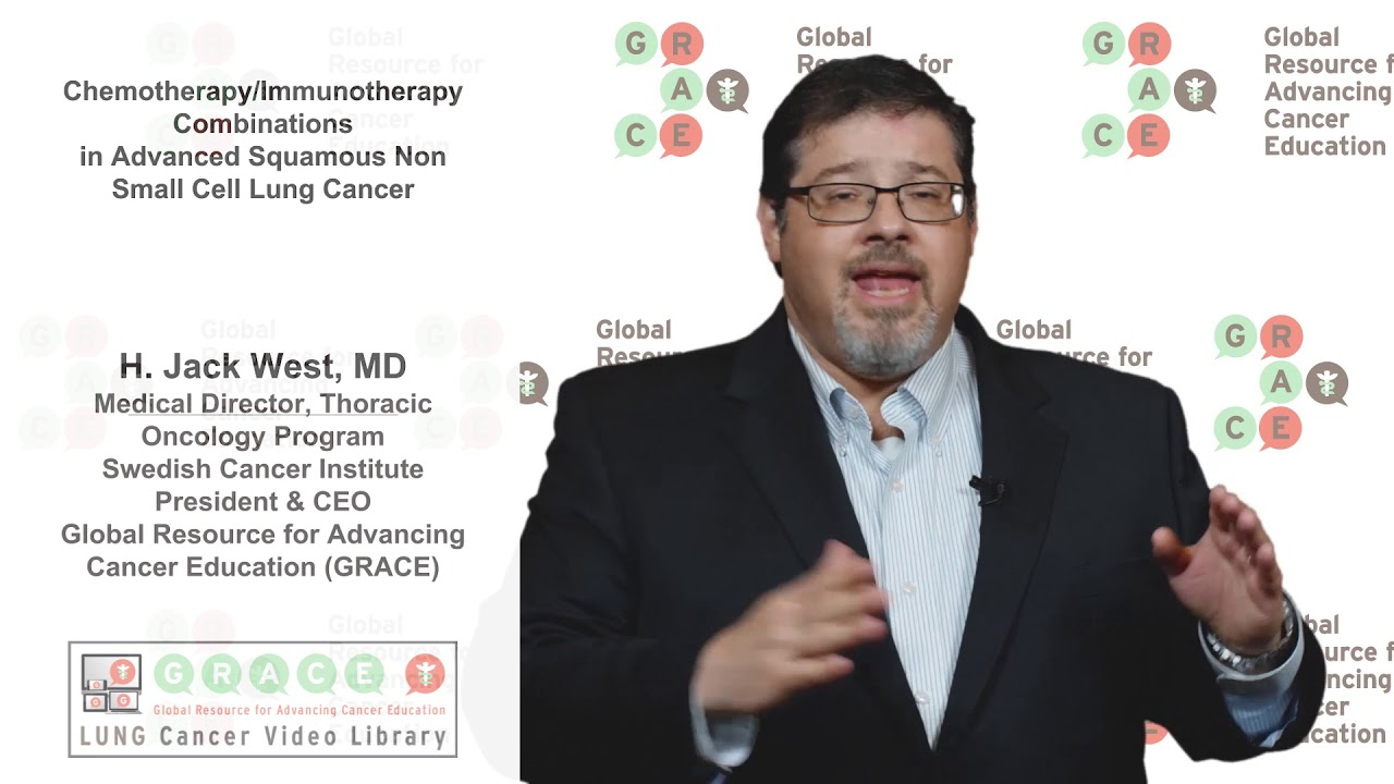 Embedded thumbnail for Lung Cancer Video Library - Chemo Immuno Therapy Combinations in Advanced Squamous NSCLC
