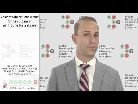 Embedded thumbnail for Lung Cancer Video Library - Zoledronate or Denosumab for Lung Cancer with Bone Metastases