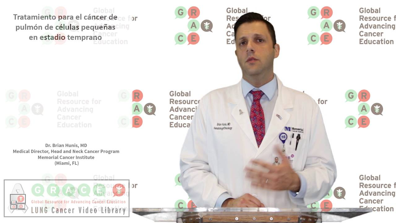 Embedded thumbnail for Lung Cancer Video Library - Spanish Language: Video #14 Treating Early Stage Small Cell Lung Cancer