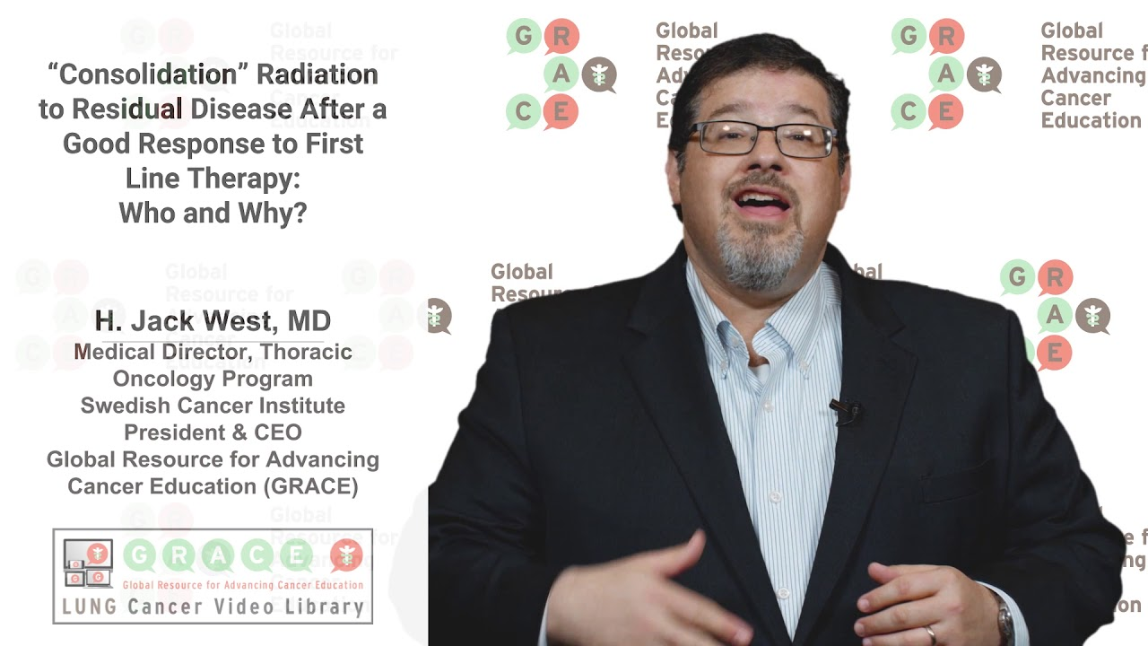 "Embedded thumbnail for Lung Cancer Video Library - ""Consolidation"" Radiation After a Good Response to First Line Therapy - Who and Why"