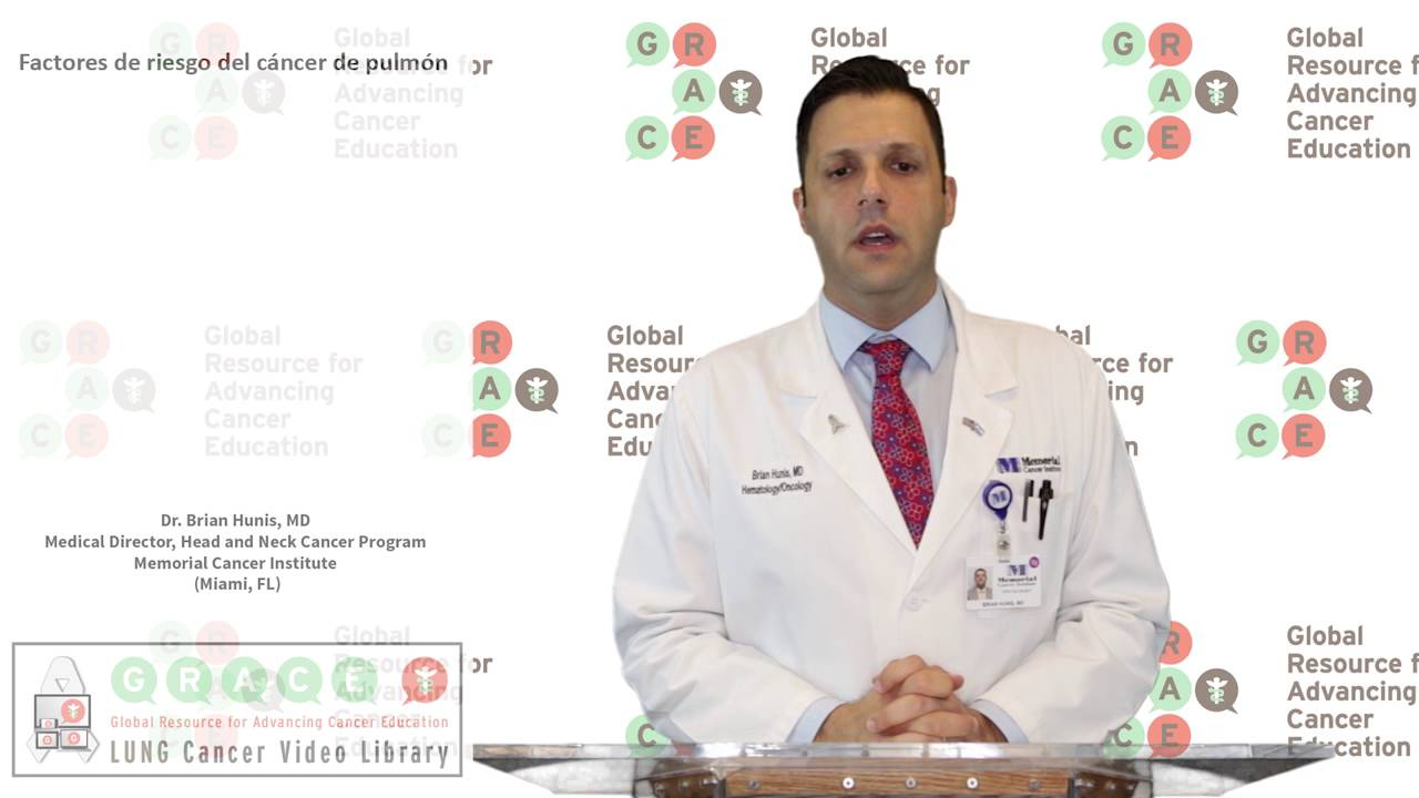 Embedded thumbnail for Lung Cancer Video Library - Spanish Language: Video #8 Risk Factors for Lung Cancer