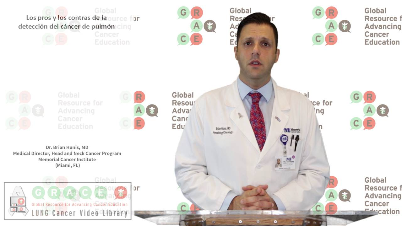 Embedded thumbnail for Lung Cancer Video Library - Spanish Language: Video #9 Lung Cancer Screening Pros and Cons