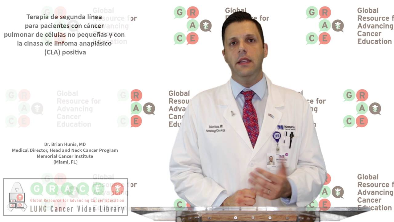 Embedded thumbnail for Lung Cancer Video Library - Spanish Language: Video #19 Second Line Therapy for NSCLC and ALK +