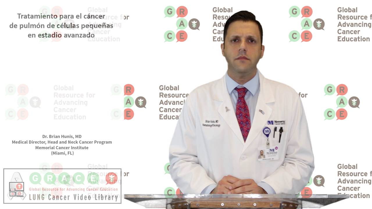 Embedded thumbnail for Lung Cancer Video Library - Spanish Language: Video #15 Treating Later Stage Small Cell Lung Cancer