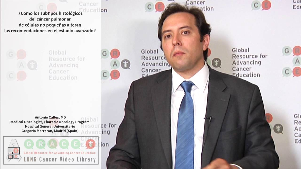 Embedded thumbnail for Lung Cancer Video Library - Spanish Language: Video #3 How does the NSCLC subtype (histology) alter chemotherapy recommendations in advanced NSCLC?