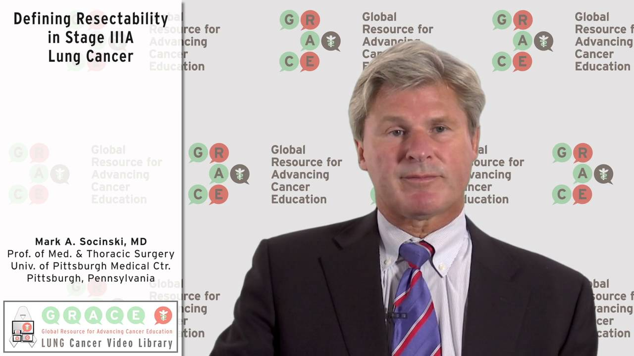 Embedded thumbnail for Lung Cancer Video Library - Defining Resectability in Stage IIIA Lung Cancer