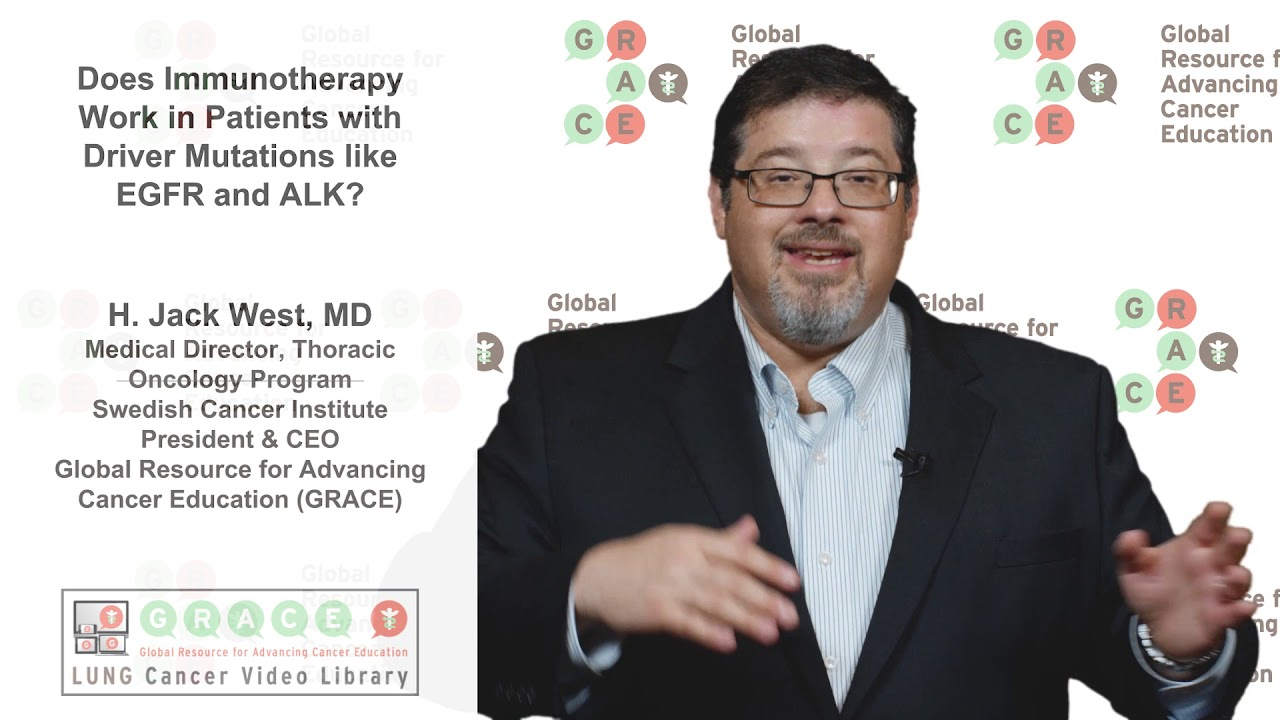 Embedded thumbnail for Lung Cancer Video Library - Does Immunotherapy Work in Patients with Driver Mutations?